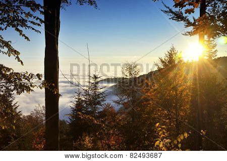 Sunrays Over Medvednica Mountain