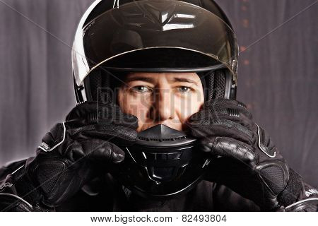 Man In Helmet