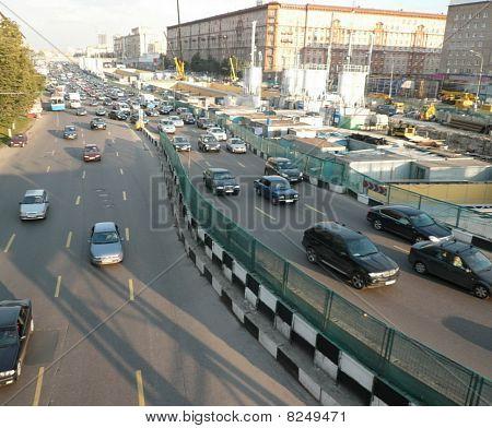 Traffic On Street Repair