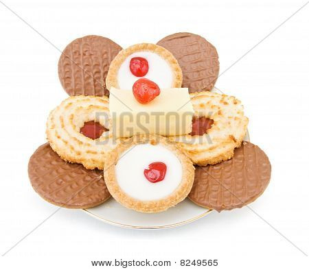 Plate With Sweets And Cookies