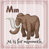 stock photo of mammoth  - Illustration of a letter M is for mammoth - JPG