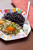 picture of scallion  - Healthy nutty Quinoa and Carrot Salad and scallions with black beans - JPG