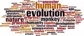 stock photo of darwin  - Evolution Word Cloud Concept - JPG