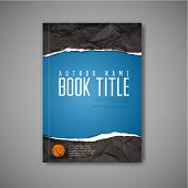 picture of tears  - Modern Vector abstract blue book cover template with teared paper - JPG