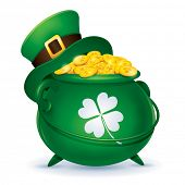 image of pot gold  - St Patricks Day symbol - JPG