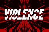 picture of stop bully  - Word violence broken into pieces on shattered background  - JPG