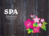 stock photo of hibiscus  - Spa background with hibiscus flower - JPG