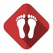 stock photo of flat-foot  - foot flat icon   - JPG