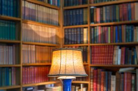 image of lamp shade  - Angle library of old books and knowledge - JPG
