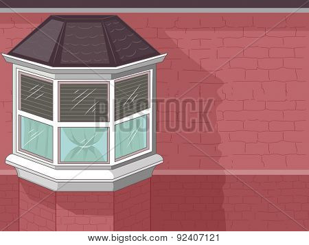 Illustration of a Stylish House with a Window Bay