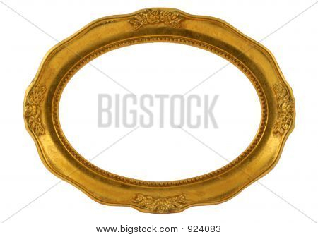 Marco Oval dorado