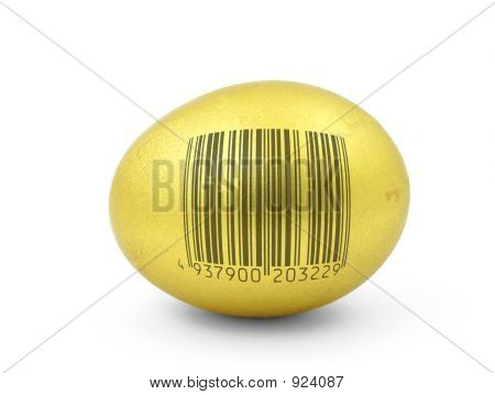 Golden Egg With Fake Bar Code
