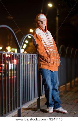 Young Boy In The Urbanic Scene