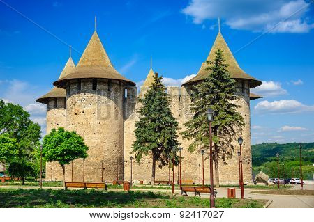 View of medieval fort in Soroca, Republic of Moldova. Fort  built in 1499 by Moldavian Prince Stephen the Great. Has been renovated in 2015
