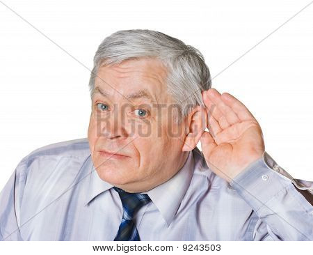 Man In Listening Pose