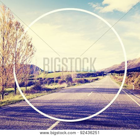 Country Road Roadside Province Rural Scene Concept