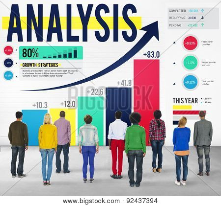 Business Data Analysis Gain Graph Statistics Concept