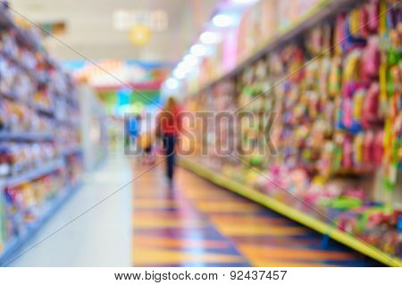 Natural bokeh shopping mall Toy Store