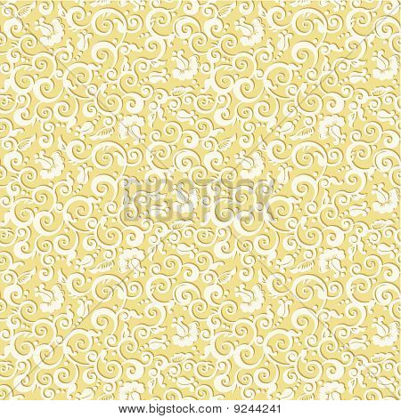Seamless elegant floral pattern vintage background with embossed effect