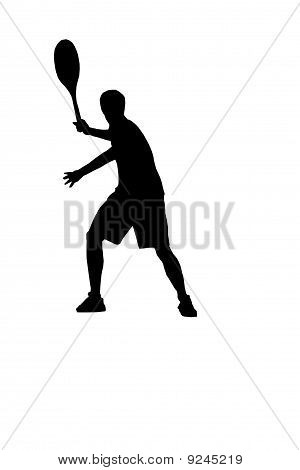 silhouette of tennis player