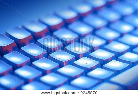 Keyboard in blue