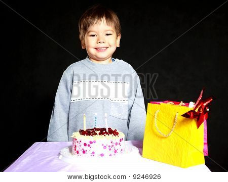 Baby Celebrating Birthday