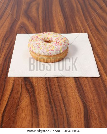 Doughnut On Office Desk