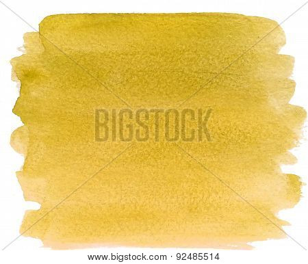 Abstract watercolor hand paint yellow  texture
