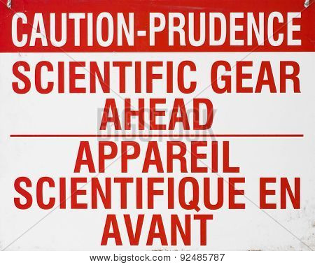 Scientific Caution Sign