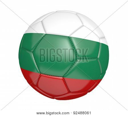 Soccer ball, or football, with the country flag of Bulgaria