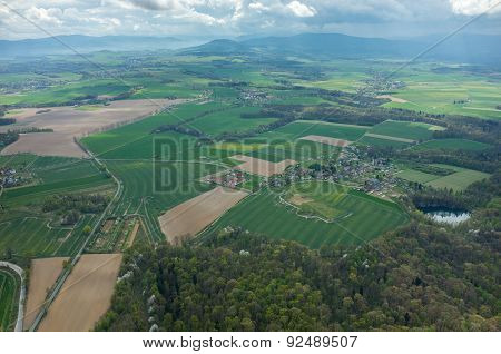 Aerial View On A Small Village