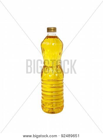 Bottle Of Palm Kernel Cooking Oil, Isolated On White
