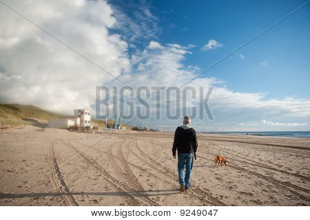Walking At The Beach
