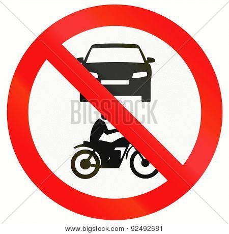 No Motor Vehicles In Indonesia