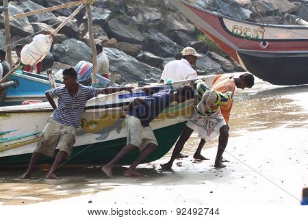 Fishing village near Galle, Sri Lanka