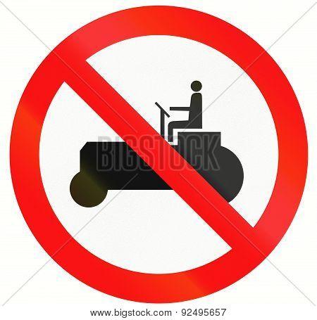 No Tractors In Indonesia