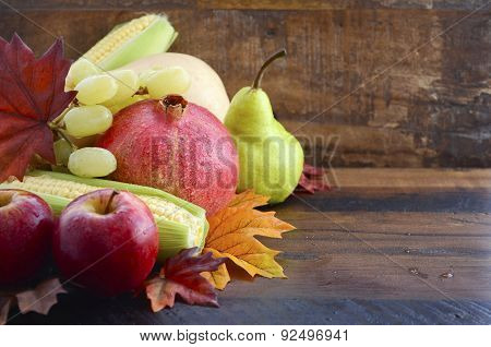 Autumn Fruit And Vegetable Background