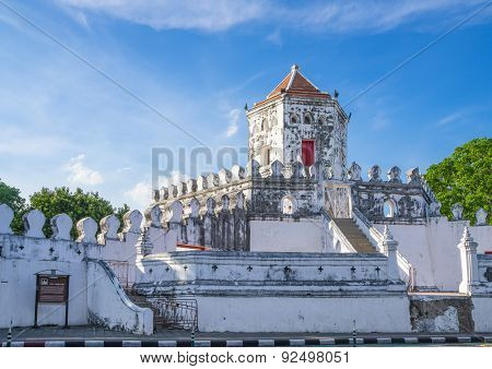Phra Sumen Fort Bangkok, Thailand. The Hexagonal-shape Concrete Fort Built In The Reign Of King Rama