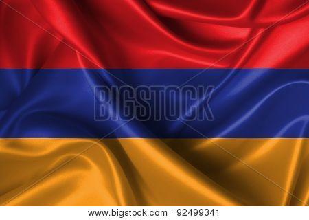 Wavy Flag Of Armenia