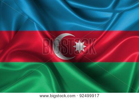 Wavy Flag Of Azerbaijan