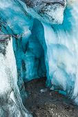 image of incredible  - Detailed photo of the Icelandic glacier ice with a incredibly vivid colors and a nice texture - JPG