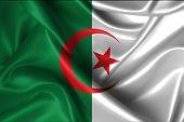 stock photo of algeria  - Realistic flag of Algeria - JPG
