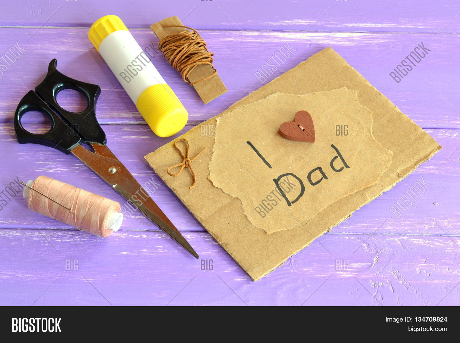 Hand Greeting Card Message Love Dad Image Photo – Birthday Card for Dad from Kids