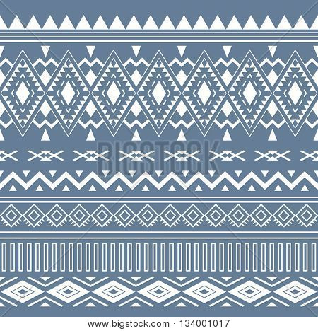 Tribal Boho Seamless Pattern. Ethnic Geometric Ornament. Vintage Vector Seamless Background. Boho Texture for Fabric, Wallpaper and Wrapping.