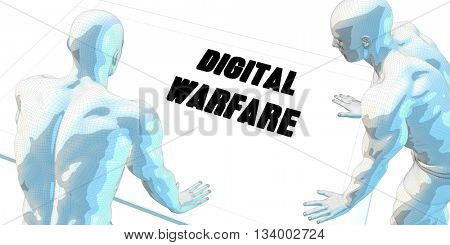 Digital Warfare Discussion and Business Meeting Concept Art 3d Illustration Render