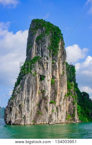 Mountain island in Halong Bay Vietnam Southeast Asia