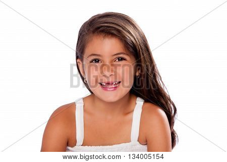 Cute Girl Missing Teeth Smiling