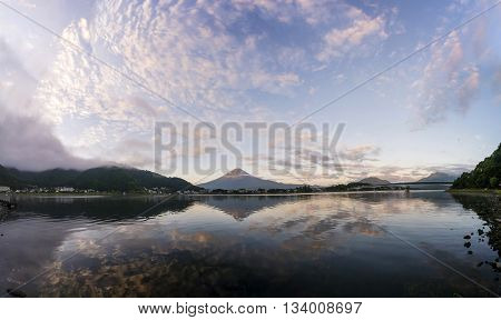 The Famous Mount Fuji At Lake Kawaguchi