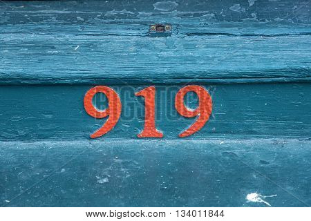 house number 919 at an old house in the Bourbon street New Orleans
