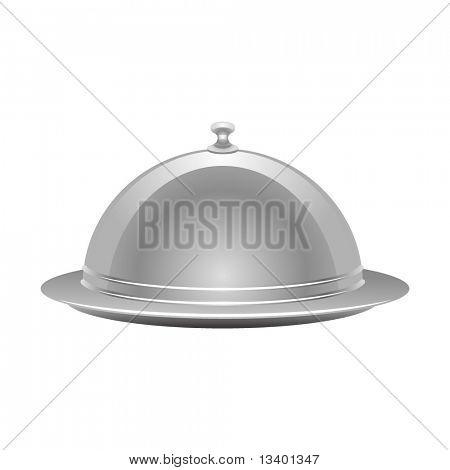 Vektor Silber-Tablett